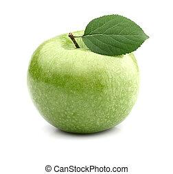緑, 葉, アップル