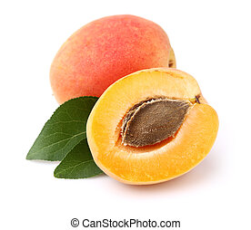 Apricots with leaf