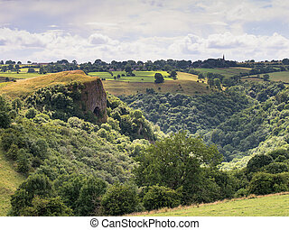 Thor's Cave Peak District tourist attraction - view of thors...