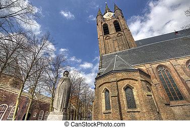 Oude Kerk Church in Delft