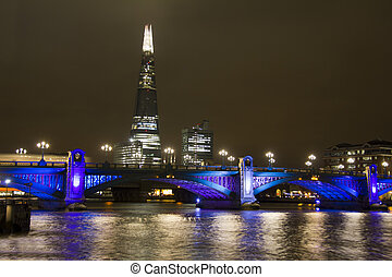 Southwark Bridge and the Shard in London - Colorfully...