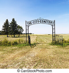 Entrance to cemetary.