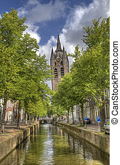 Old Church of Delft, Holland