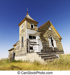 Old abandoned church. - Scenic of old abandoned church in...