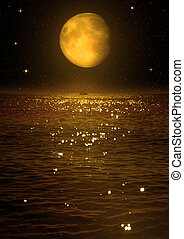 "moon in the night sky - The moon in the night sky ""Elements..."