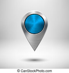 Technology Map Pointer with Blue Metal Texture - Technology...