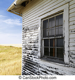 Weathered building.