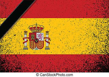 in memory spanish flag. spain grunge flag