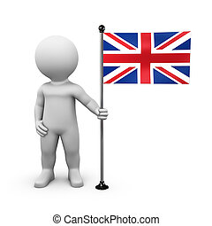 United Kingdom Union Jack Flag - Bobby presents a flag of...