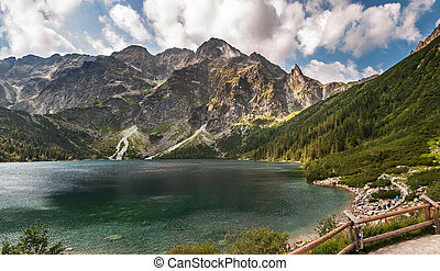 Morskie Oko, largest lake in the Tatra Mountains, Poland.