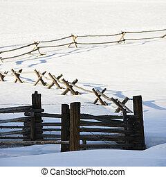 Winter fence.