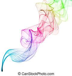 abstract smoke waves - abstract colorful smoke waves
