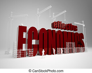 Building effective economics - High quality 3d render....
