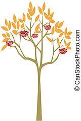 Abstract Rowan Tree - Small abstract rowan tree, decorative...
