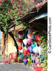 Colorful lanterns in Hoi An Vietnam - Colourful traditional...