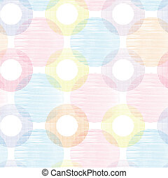 Colorful textile circles seamless patter background border -...