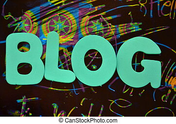 word blog on a abstract background