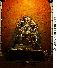 Statuette of the god - Ganesh. India, Udaipur - A statuette...