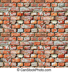 Seamless pattern - brick wall grunge background - Seamless...