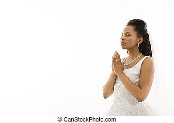 orando, Noiva
