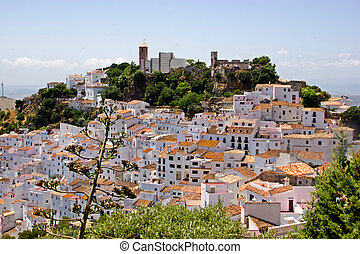 Typical white andalucian village