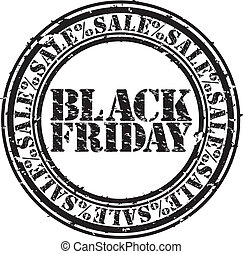 Grunge black friday sale rubber stamp, vector illustration