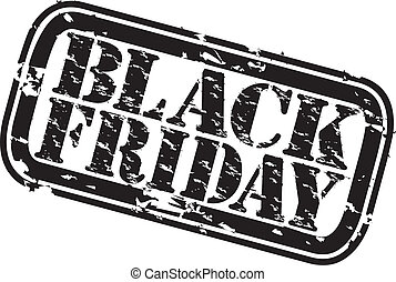 Grunge black friday rubber stamp, vector illustration