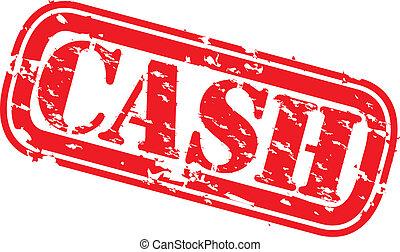 Grunge cash rubber stamp, vector illustration