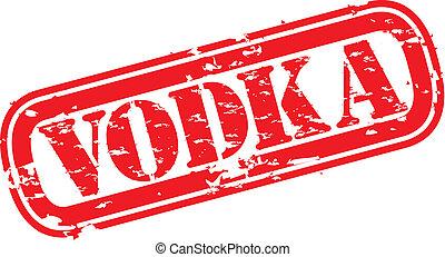 Grunge vodka rubber stamp, vector illustration