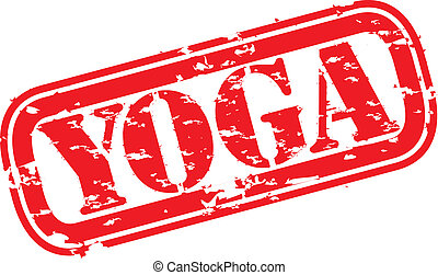 Grunge yoga rubber stamp, vector illustration
