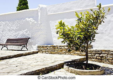 Spanish andalucian typical village - View of a spanish...