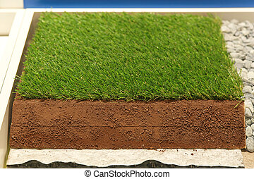 Synthetic grass layers - Layers of artificial synthetic...