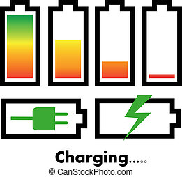 Battery charge icons