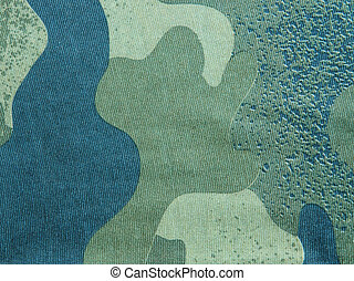 Military camouflage fabric texture and background