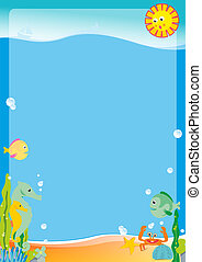 under the sea - brochures, advertisements, or for the board...