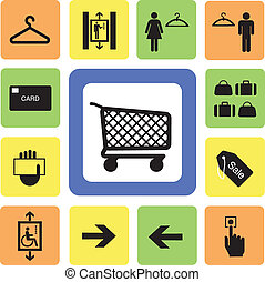 shopping mall icons set 2 from Illustration