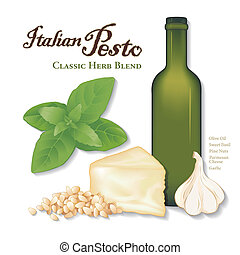 Italian Pesto, Sweet Basil, Garlic - Pesto, popular Italian...