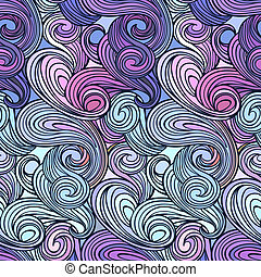 Seamless abstract curly wave pattern-model for design of...
