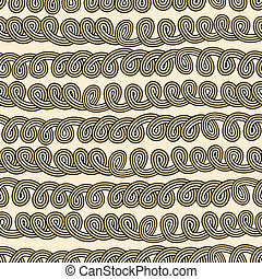 Rope tangled seamless pattern - Rope tangled knots-bundle...