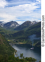 Geiranger is a very well known and famous place in the end...