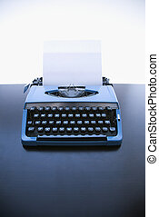 antigas, formado, Máquina escrever