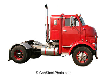 Snub Nose Truck - This is an early historic 1950s retro red...