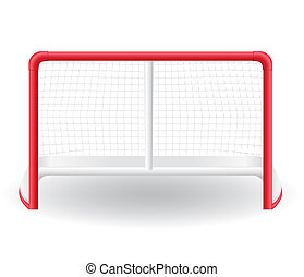 gates goalie for the game of hockey illustration isolated on...