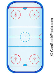 hockey stadium illustration isolated on white background