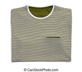 Striped T-shirt - Studio shot of striped T-shirt on white...