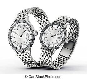 watch - modern watches isolated on a white background
