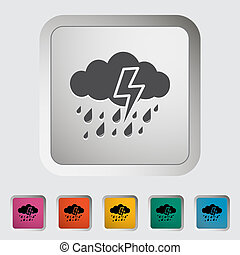 Storm icon. - Storm. Single icon. Vector illustration.