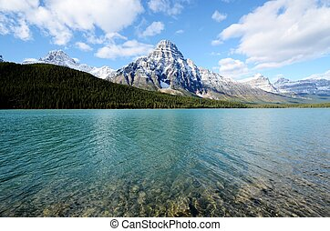 Waterfowl Lake in spring,Canadian Rockies,Canada