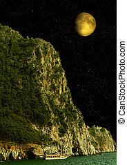 "moon in the night sky - The moon in the night sky ""Elements..."