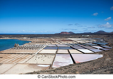 Salinas de janubio a an area of u200Bu200BLanzarote where...